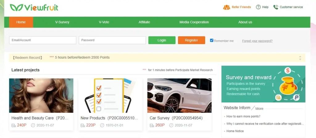Viewfruit- Online Surveys That Pay Cash