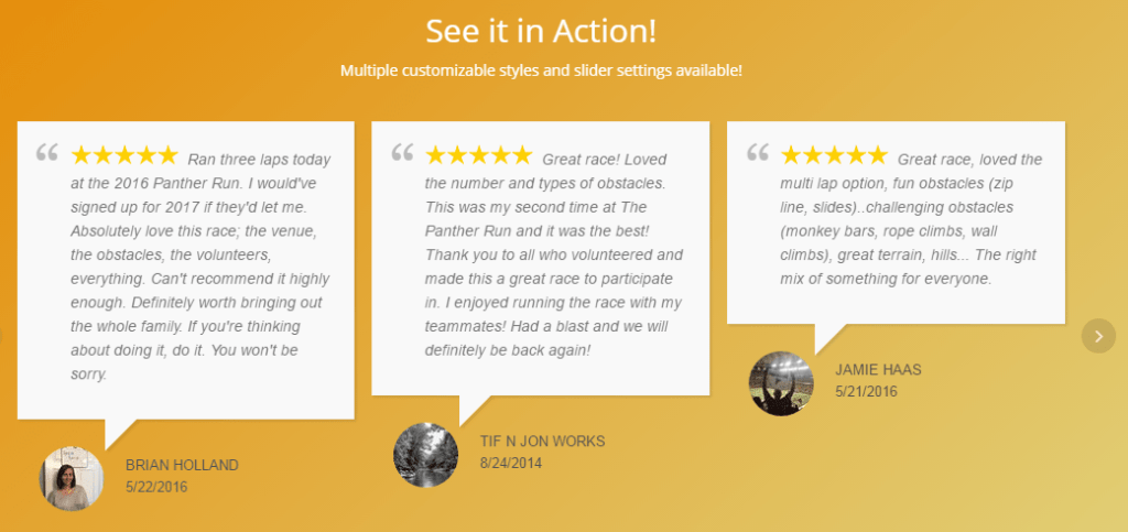 WordPress Review Plugin - WP Google Review Slider