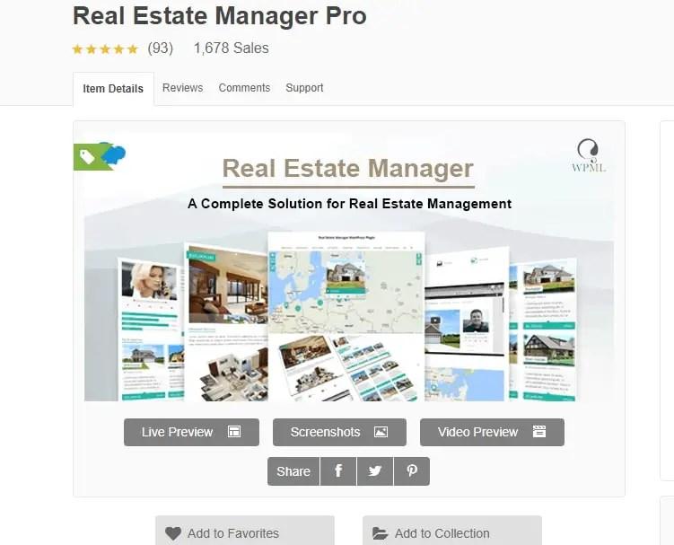 WordPress Real Estate Plugin - Real Estate Manager Pro