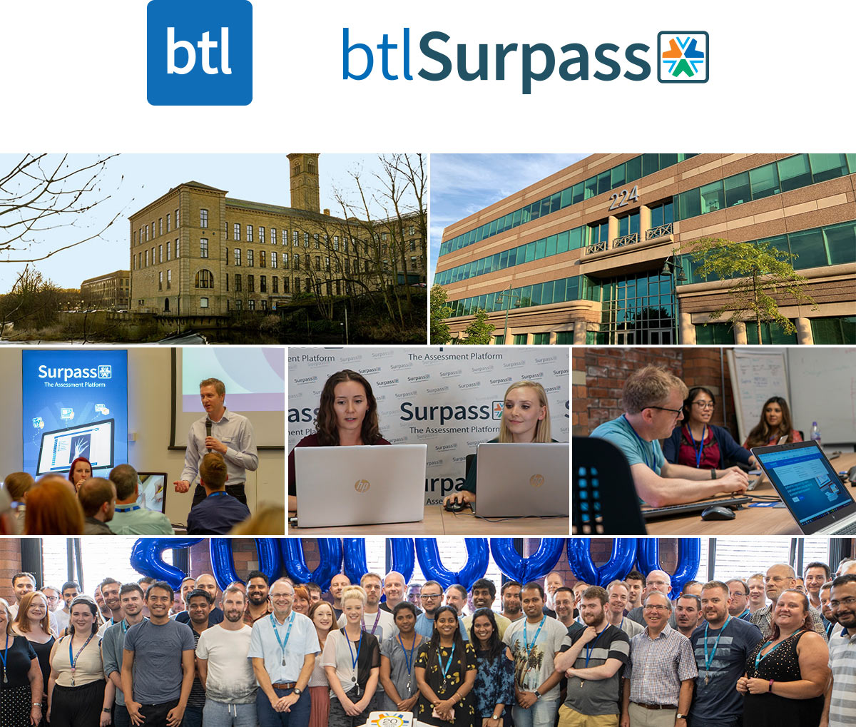 BTL staff photo montage