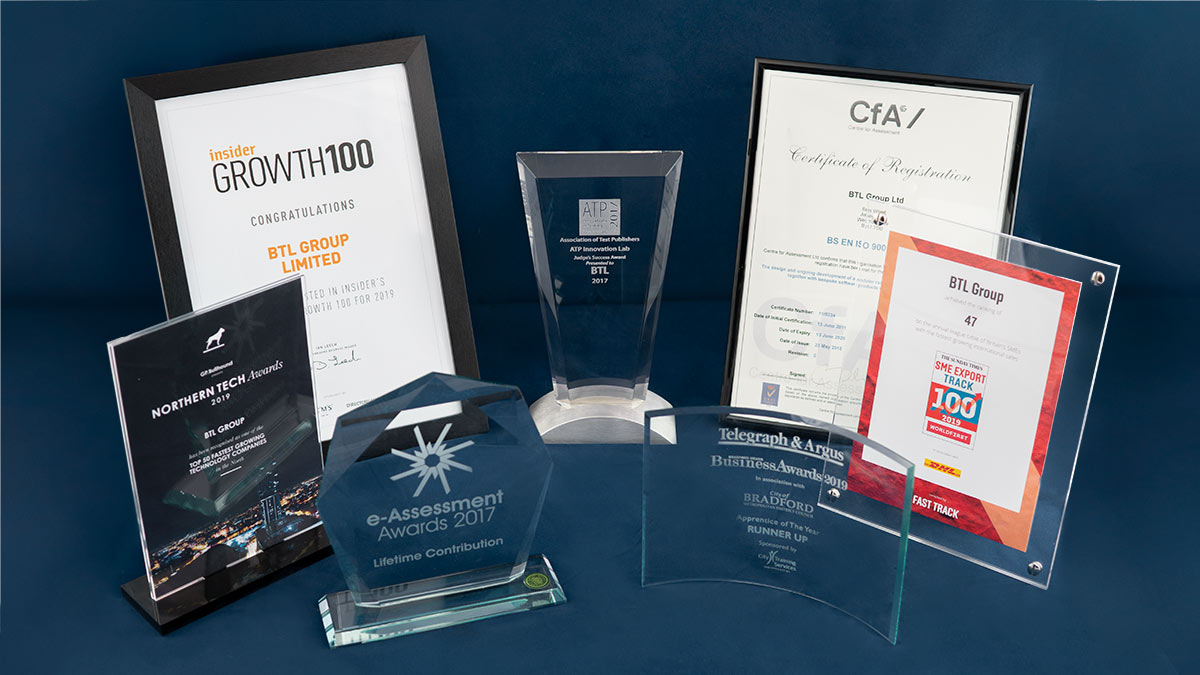 Award plaques and certificates