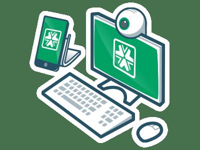Dual-camera remote proctoring icon