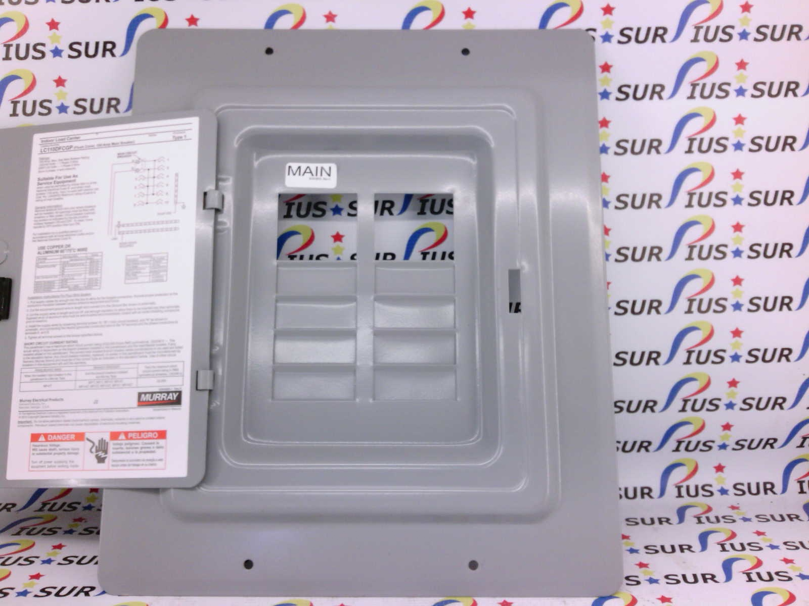 Murray Lc110dfcgp 10 Space Circuit Breaker Box Load Center Front Cover Door