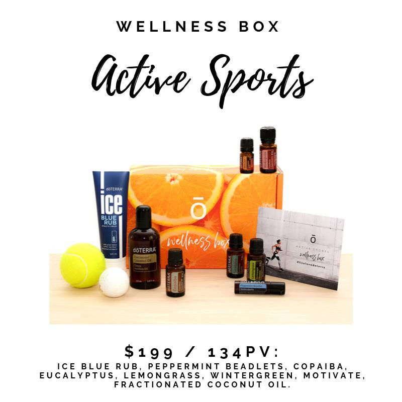 doTERRA Active Sports Enrolment Kit to support athletes and active people with Essential Oils
