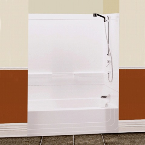 "Monaco 60"" Two Piece White Tub/Shower BY MAAX (right drain"