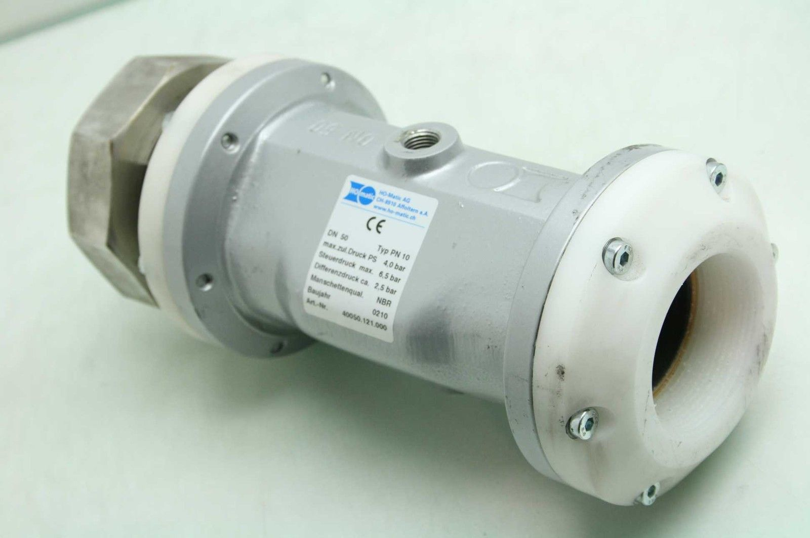 hight resolution of ho matic 40050121000 tubing pinch valve size dn 50 type pn 10 0210 used 172265758707