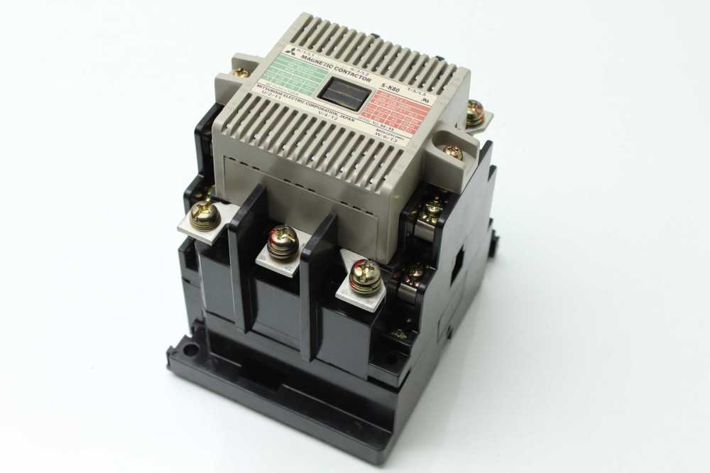 medium resolution of mitsubishi s k80 magnetic contactor 45 kw 200 240 vac used 183455265793 19