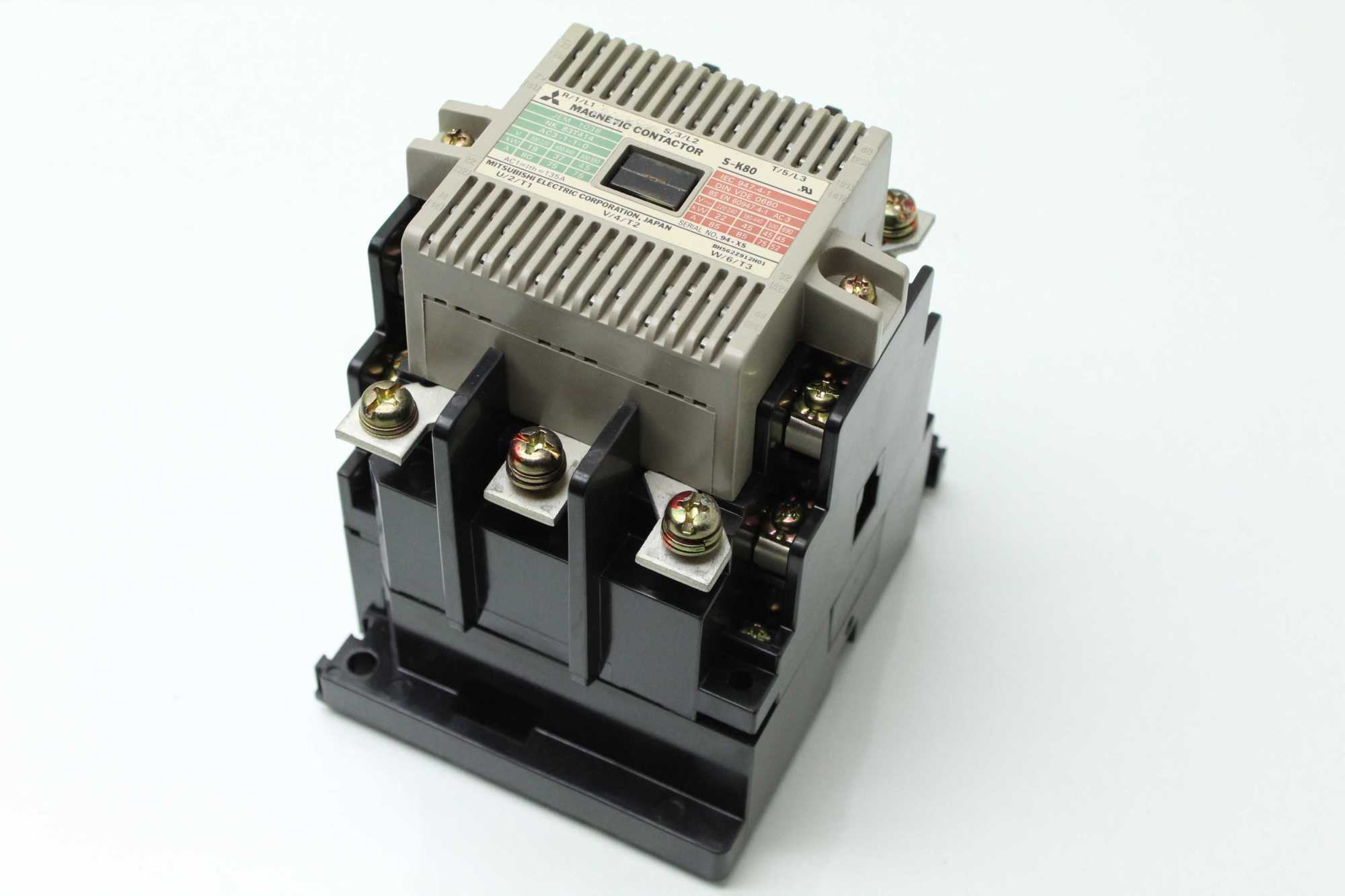 hight resolution of mitsubishi s k80 magnetic contactor 45 kw 200 240 vac used 183455265793 19
