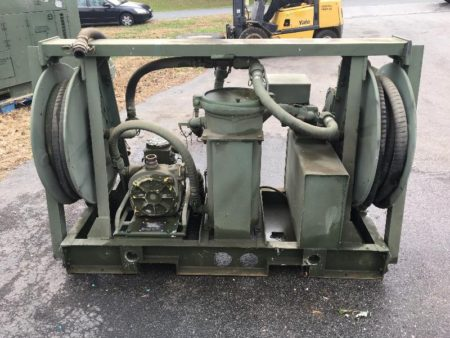 Military Surplus Aluminum Skid Mounted Fuel Transfer Pump Unit MILT40136 tank  Surplus