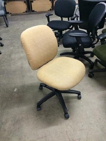 hon desk chair rocking nursing task beige armless surplus office equipment home used chairs