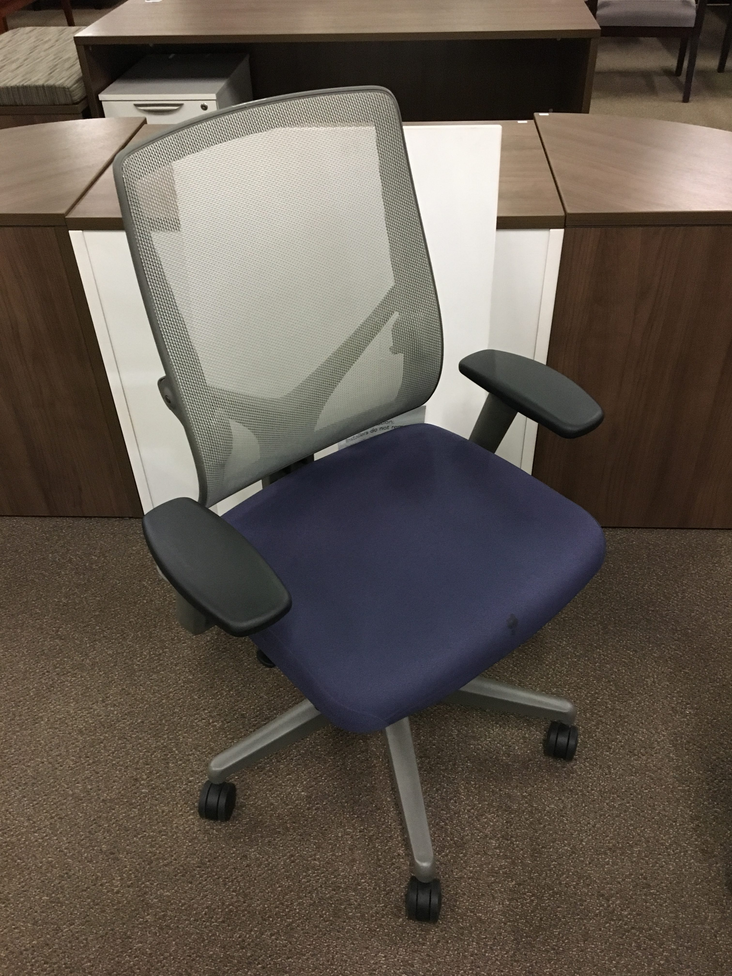 allsteel office chair amish made rocking cushions relate series task blue surplus