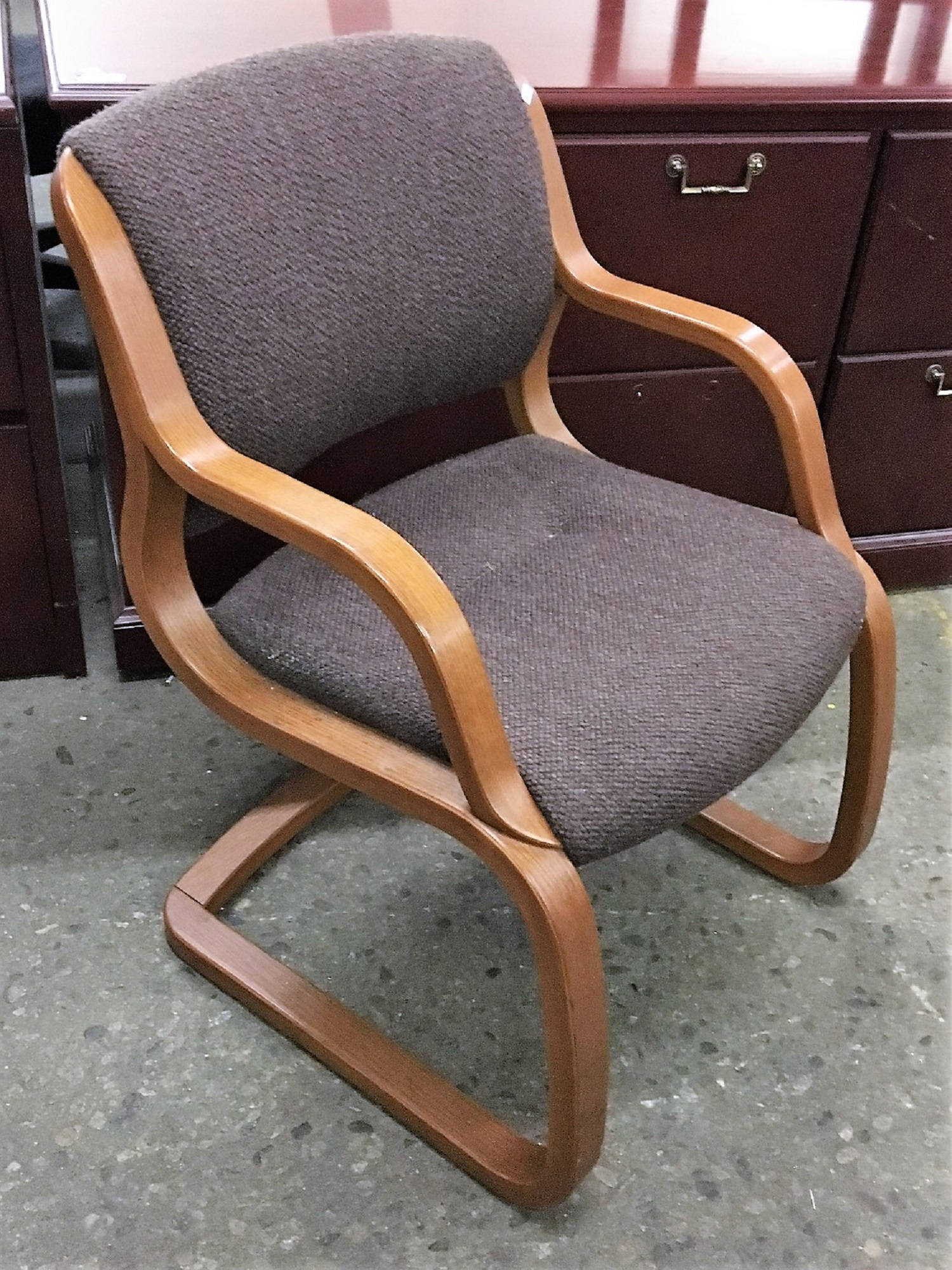brown office guest chairs lowes adirondack chair plans steelcase arrondi series fabric surplus home used and stackable