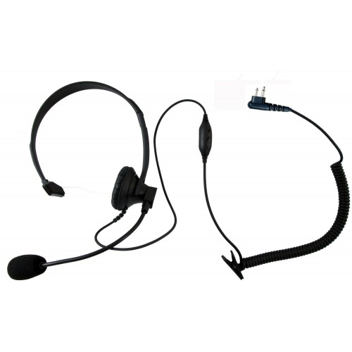 Single ear headset with push to talk and VOX for Motorola