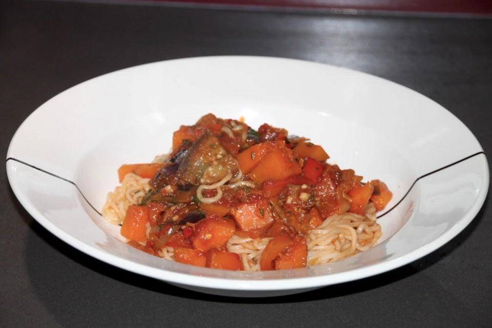 vegetarian pumpkin noodles