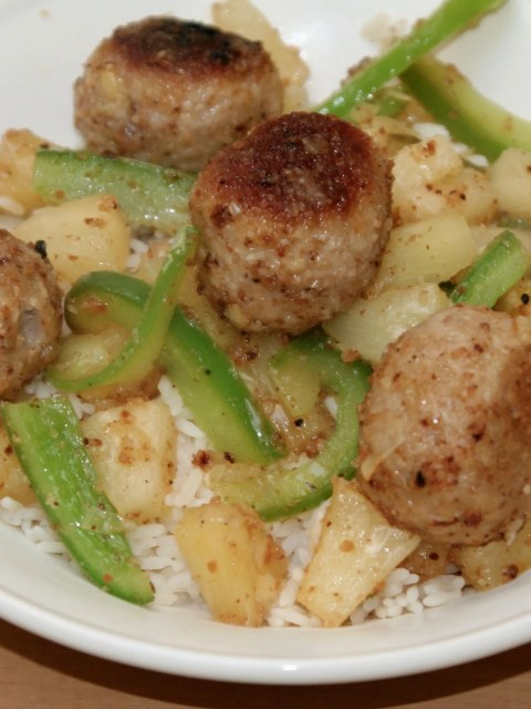 Meatballs with pineapple