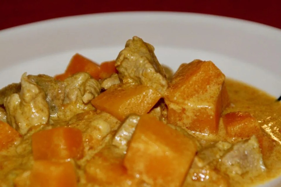 Thai pumpkin curry with pork