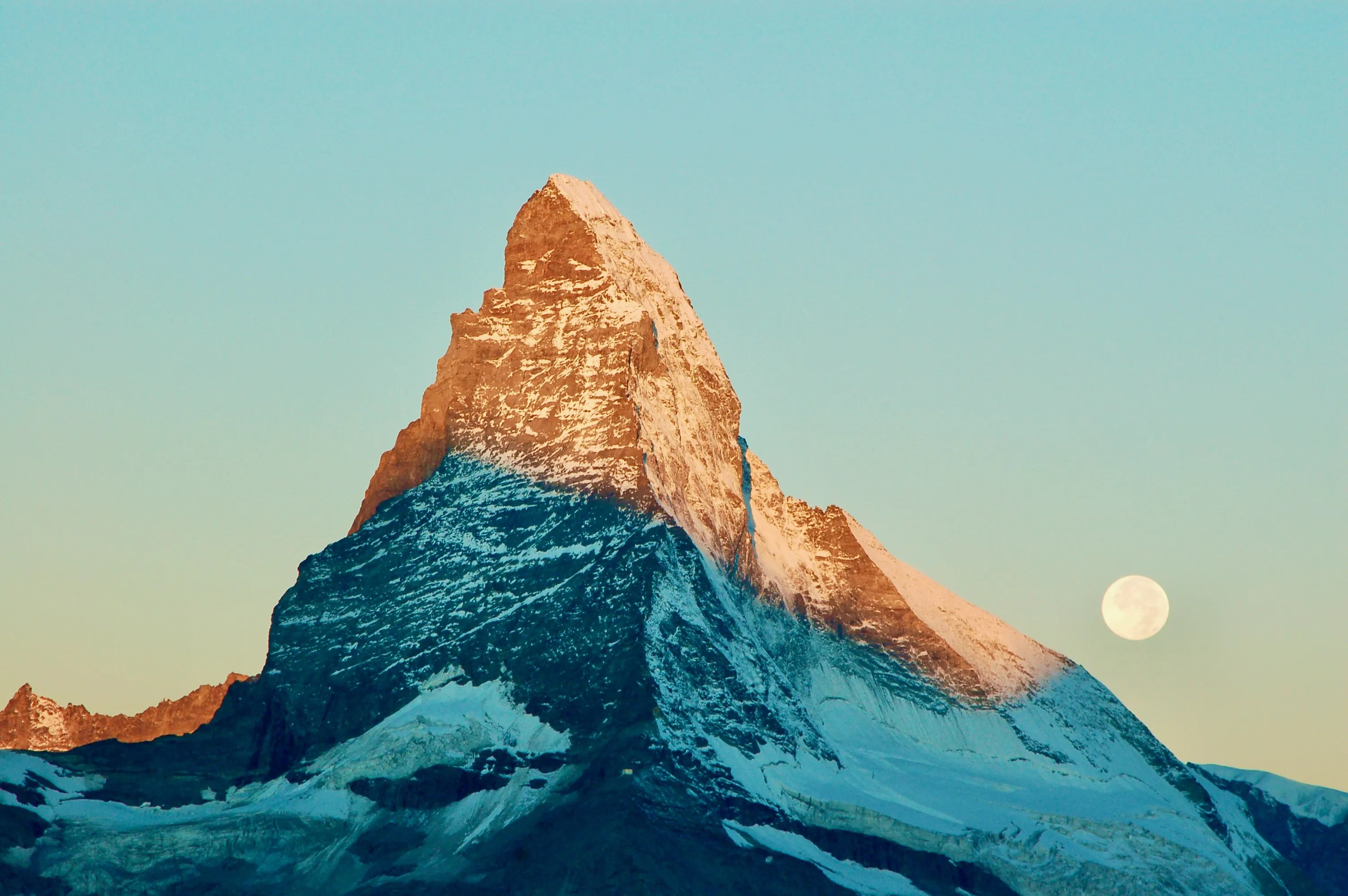 Matterhorn with full moon