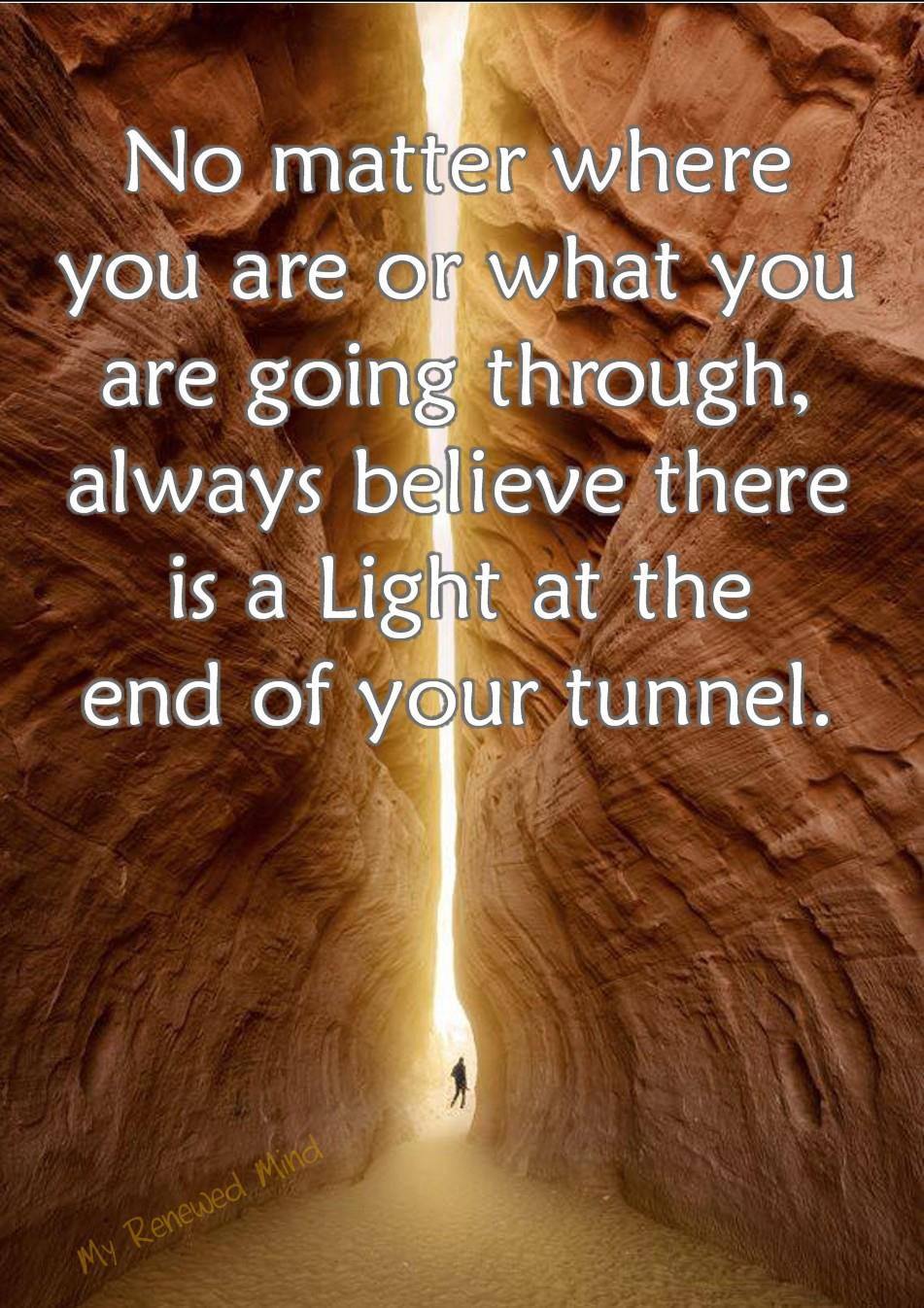 A Light At The End Of The Tunnel Quote Surprising Lives