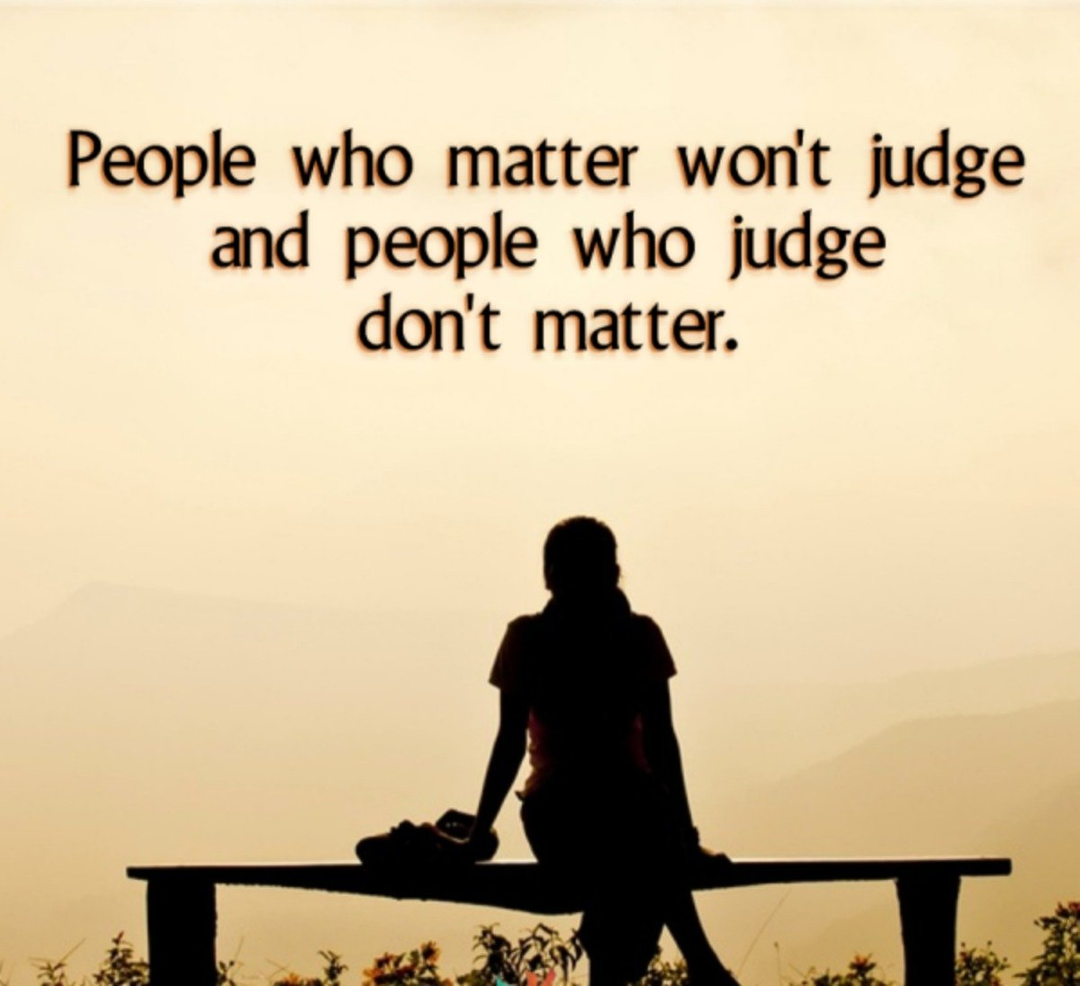 Judgemental People~Quote