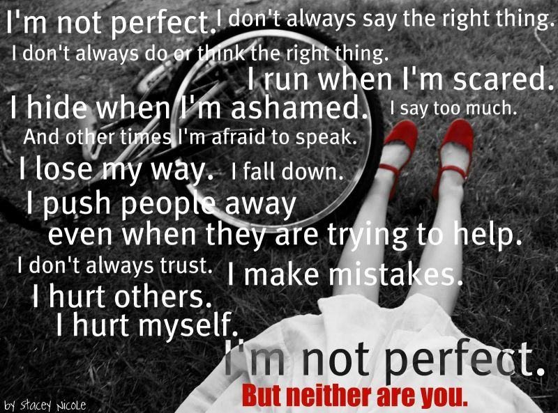 neither of us is perfect image quote