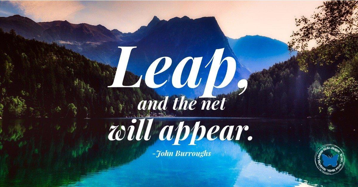 leap net appear famous quote