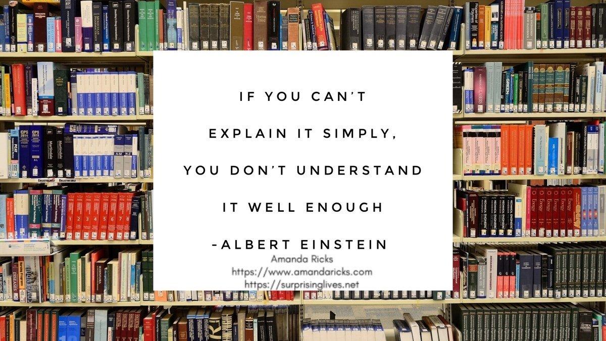Explain it simply albert einstein quote