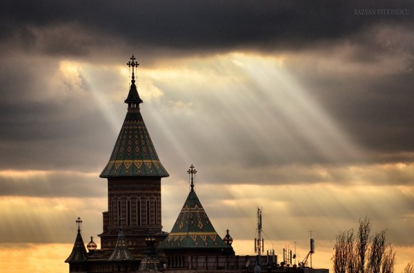 Apus de soare in Timisoara