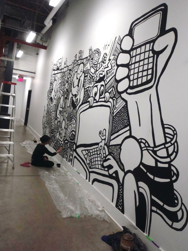 Black and White Graffiti Wall Murals