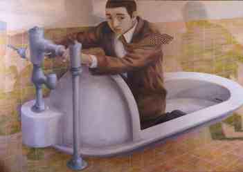 Tetsuya Ishida, toilet refugee, 1996
