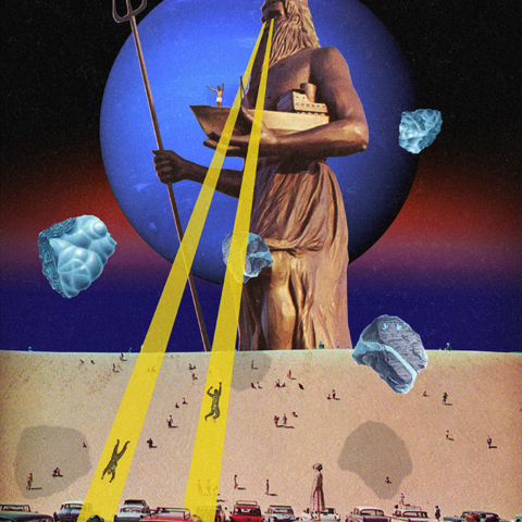 The Invisible Realm - Surreal Collage by Felipe Posada