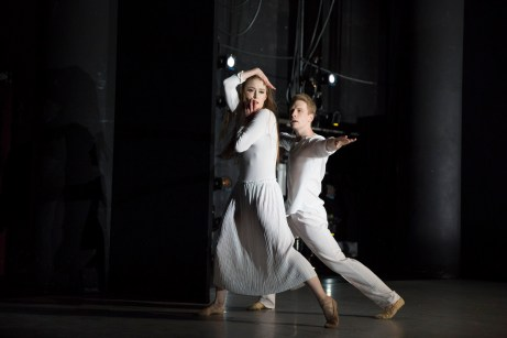 featuring (L to R) Chloe Felesina, Daniel Mayo > choreography by Matthew Neenan > photo by Alexander Iziliaev