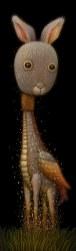 Surrealist Cat Giraffe Creature by Naoto Hattori