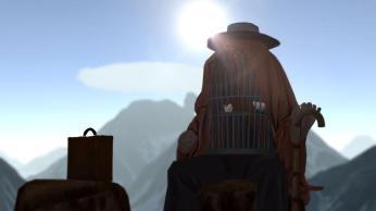 Magritte VR - bird cage man