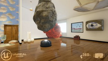 Floating Rock in Room, hat on floor, Rene Magritte painting references