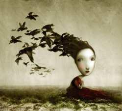 Crows by Nicoletta Ceccoli