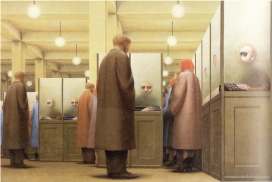 George Tooker - the government-bureau