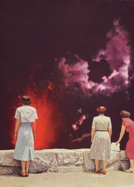 Volcano at Night - by Beth Hoeckel