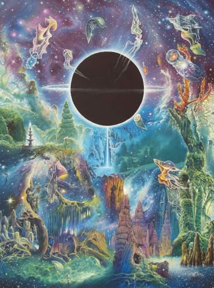 Across the Event Horizon - Oil on canvas. 18x24