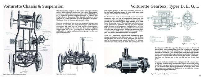 Sample Page | Chassis and Suspension  | De Dion Bouton, An Illustrated Guide To Type & Specification, 1899-1904