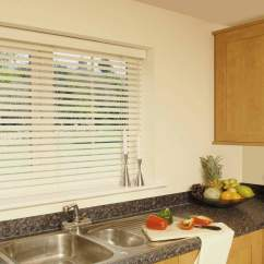 Kitchen Blinds Large Appliances Faux Wooden Venetian Blind In A Surrey Shutters Wood