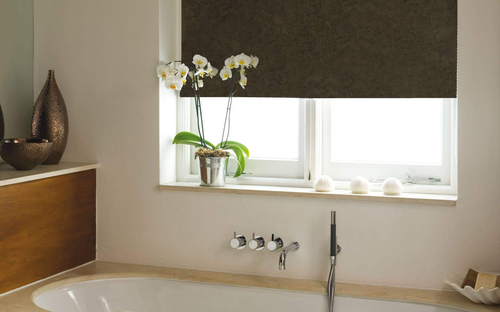 Rollers in a Bathroom  Surrey Blinds  Shutters