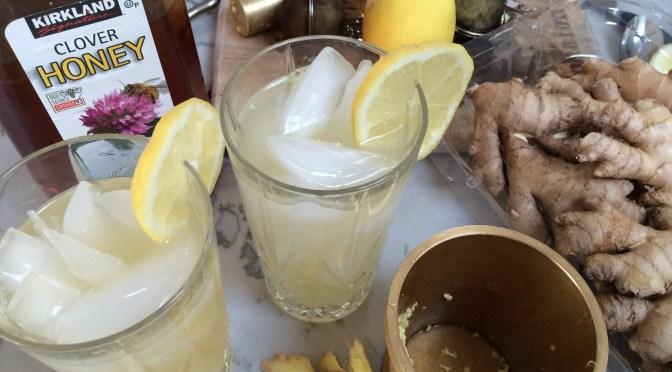 Homemade Ginger Honey Soda