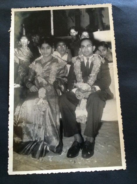 Mom and Dad at their wedding