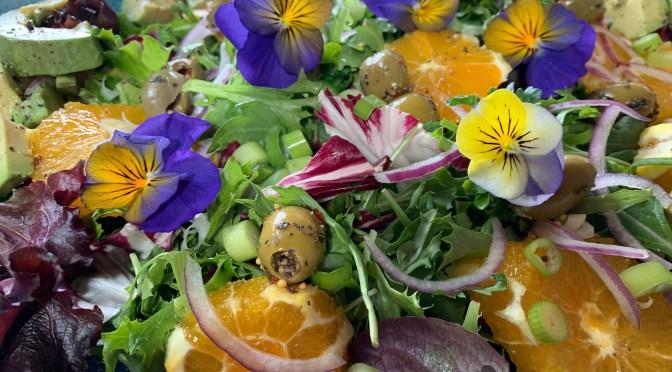 Orange and Avocado Spring Green Salad