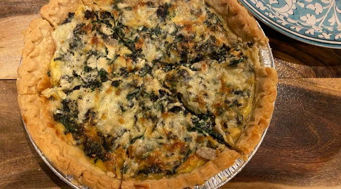 Kale and  Shallot Quiche