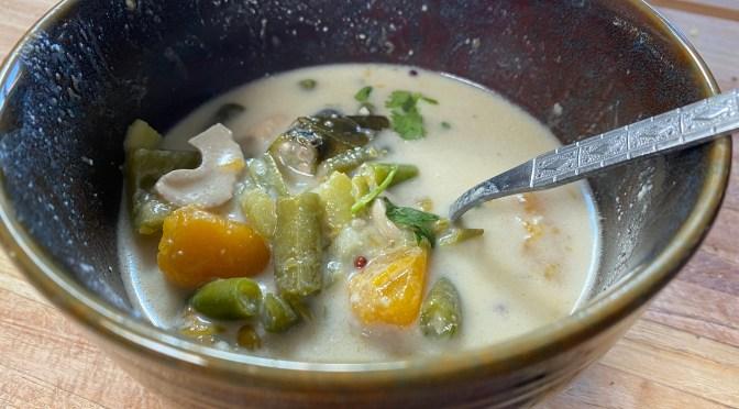 Val Val. Konkani Pumpkin Veggie Stew with Coconut Cashew Gravy