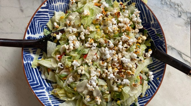 Roasted Corn Ceasar Salad
