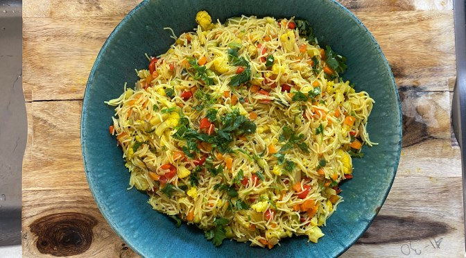 Vermicelli Upma. Noodle Vegetable Pilaf