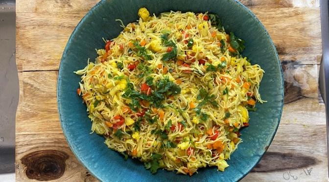Vermicelli Upma. Noodle Vegetable Pilaf