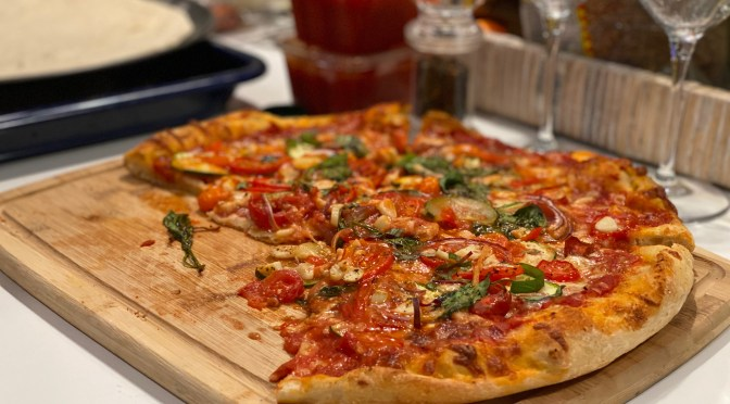 Homemade Gourmet Veggie Pizza